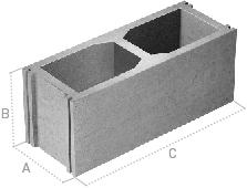 Gls prefabricados de hormig n productos bloque de hormig n for Bloques de hormigon medidas