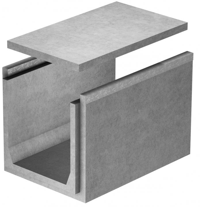 Gls prefabricados de hormig n productos canal 100x50x67h - Hormigon prefabricado precio ...